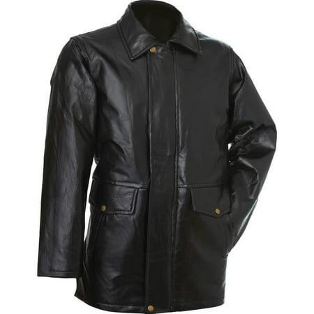 Italian Stone Design Genuine Leather Jacket