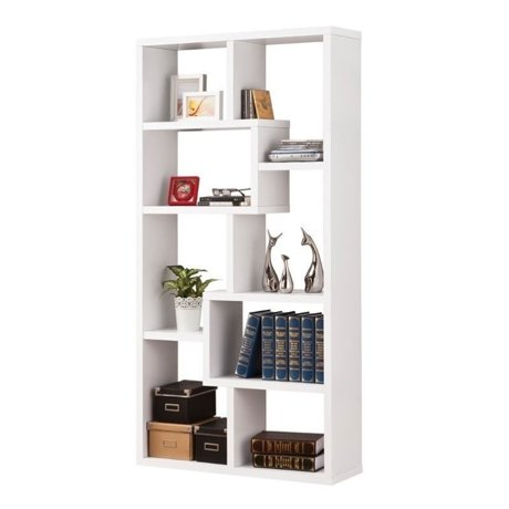Coaster Open Back Bookcase In White