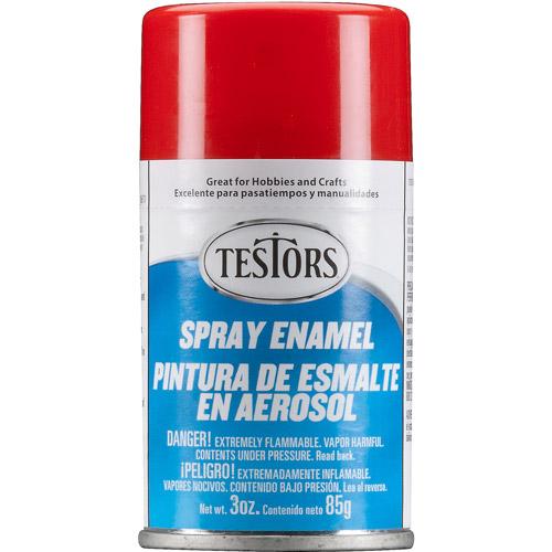 Testors Spray Paint, Red, 3 oz