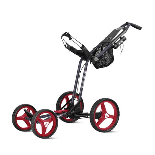 New Sun Mountain Micro-Cart GT Push Cart - Navy / Red / W...