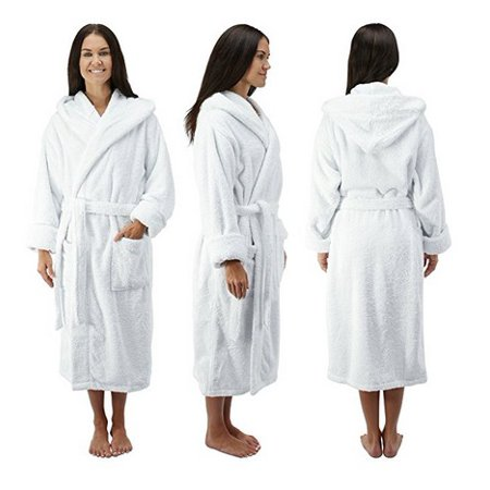 7a44b25e47 Comfy Robes - Comfy Robes Women s Deluxe 20 oz. Turkish Cotton Hooded  Bathrobe