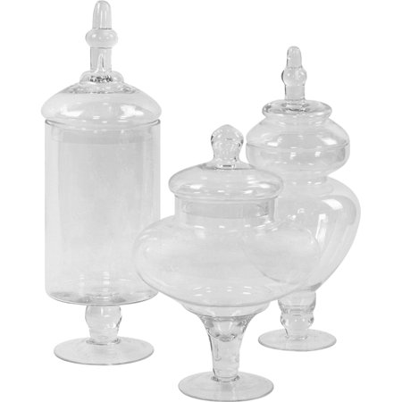 Koyal Wholesale Couture Candy Buffet Apothecary Jars, Set of 3 (Empty Baby Food Jars Wholesale)