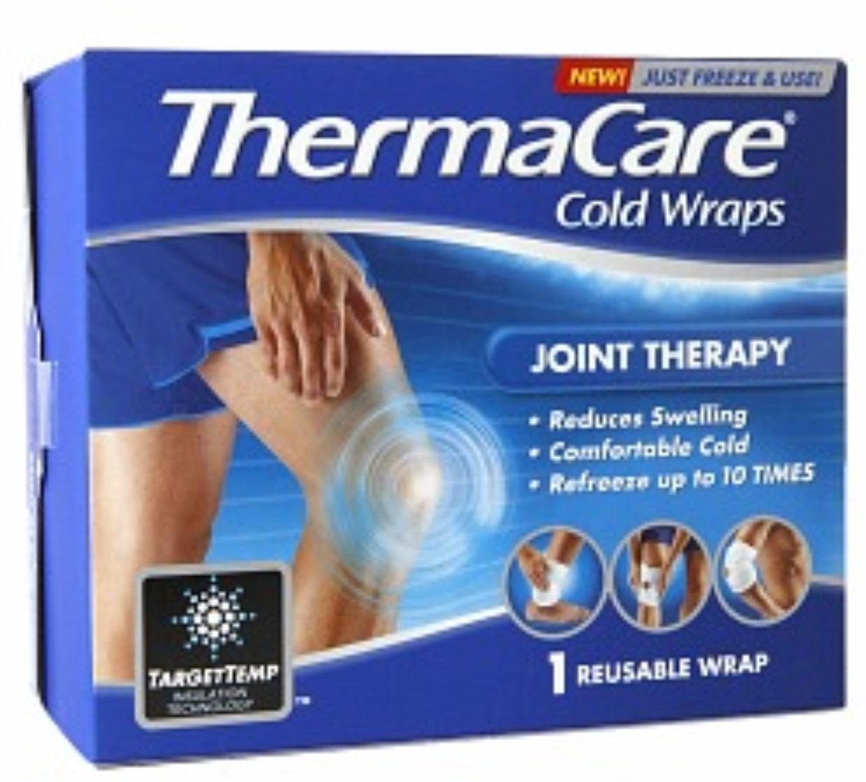 ThermaCare Joint Therapy (1 Count) Reusable Cold Wrap, Temporary Relief of Swelling, Muscular, Joint Pains, Refreeze Up To 10 Times