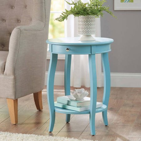 Better Homes & Gardens Round Accent Table with Drawer