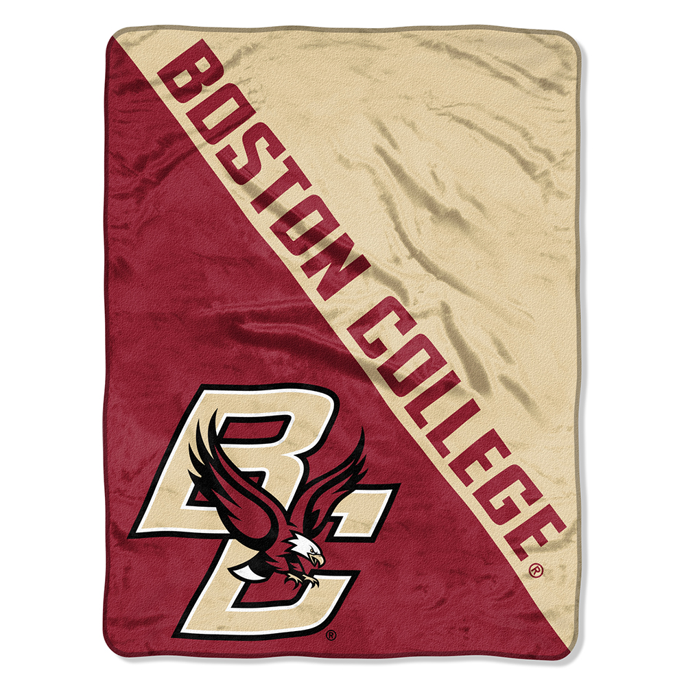 "Boston College Eagles NCAA Micro Raschel Blanket (Two Tone Series) (48""x60"")"