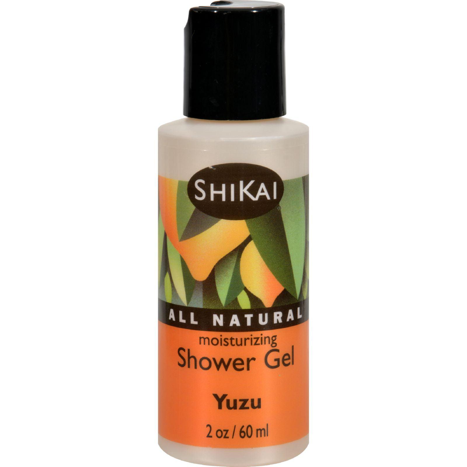 Shikai Products Shower Gel - Yuzu Fruit Trial Size - 2 oz - Case of 12