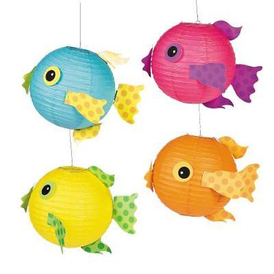 IN-13729547 Tropical Fish Hanging Paper Lanterns