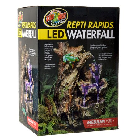 Zoo Med Repti Rapids Led Waterfall Wood Style Medium