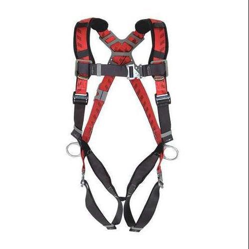 Msa Full Body Harness, Red 10041599