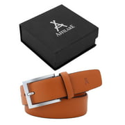 Affilare Men's Genuine Italian Leather Dress Belt 35mm Tan 12BS300TN