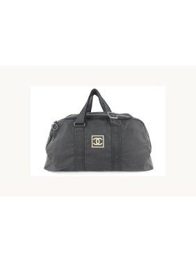 512c212bebfd Product Image Cc Logo Sports Boston Duffle 19cz1106 Black Canvas Weekend/Travel  Bag. CHANEL