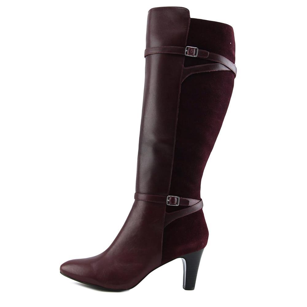 Lauren Ralph Lauren Sabeen   Round Toe Leather  Knee High Boot