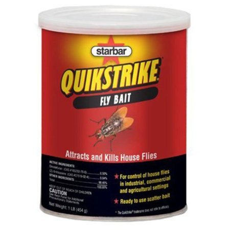 - Quikstrike Fly Bait 1 Pound, 1-Lb, Attracts and kills house flies By