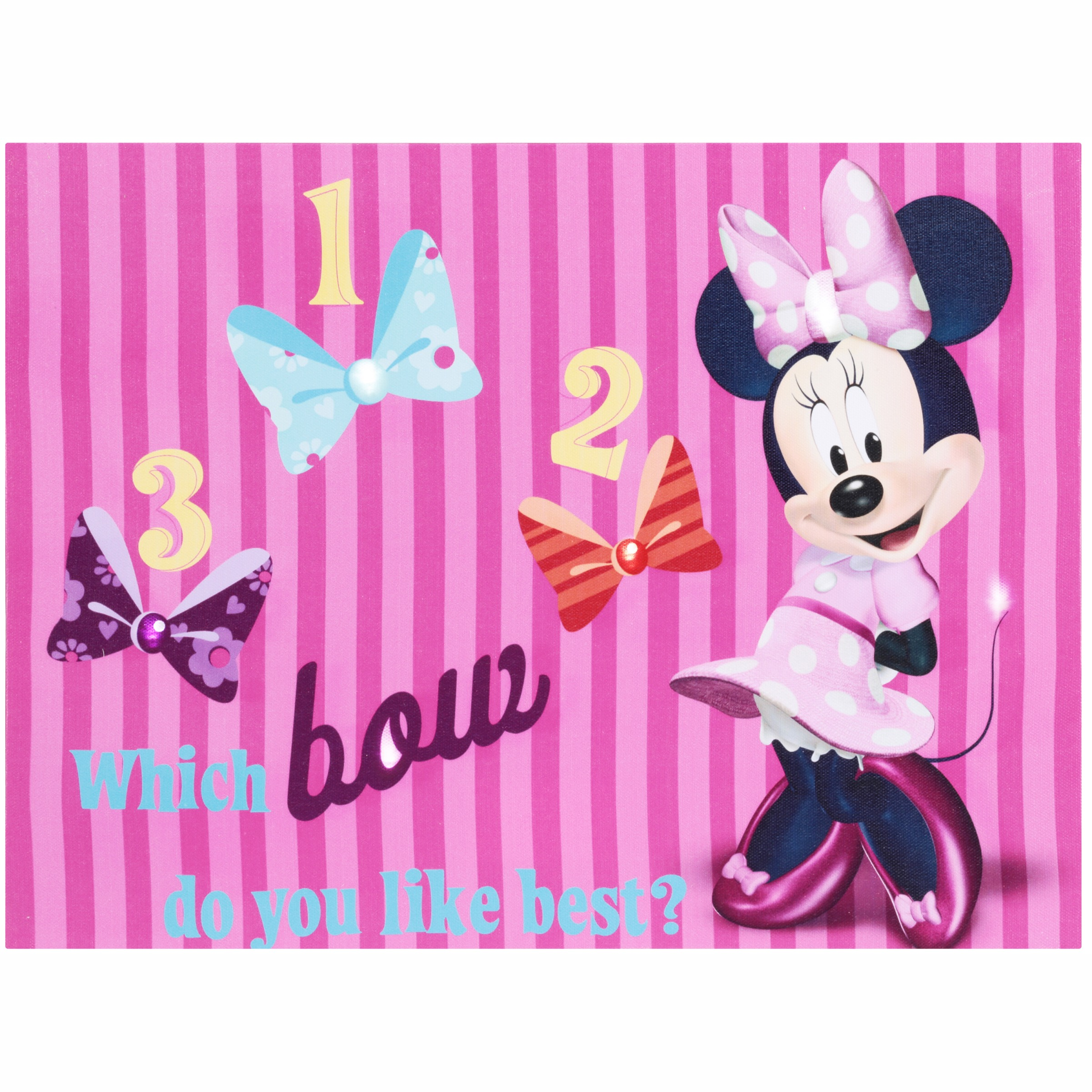 Disney Minnie Mouse Bow-Tique Light Up Canvas LED Wall Art