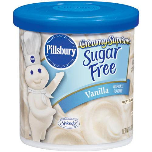 Pillsbury Creamy Supreme Sugar Free Vanilla Frosting, 15 oz