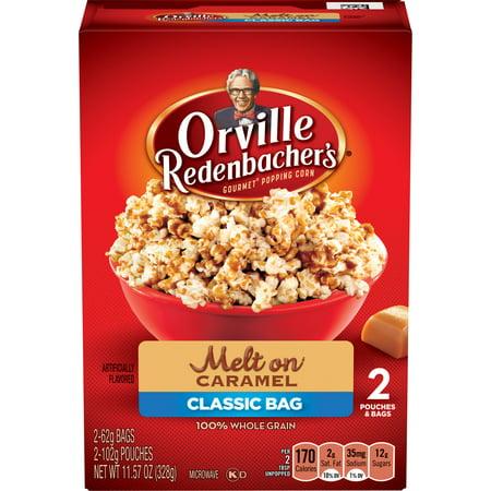 Orville Redenbachers Caramel Popcorn  2 Count