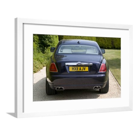 2011 Rolls Royce Ghost Framed Print Wall Art