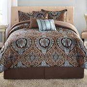 Mainstays Victoria Jacquard 7-Piece Bedding Comforter Set