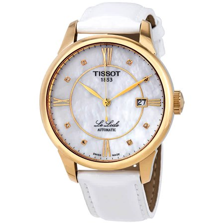 Tissot Le Locle Automatic Diamond Mother of Pearl Dial Ladies Watch T41.5.453.86