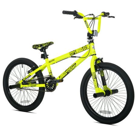 Kent 20u0022 Thruster Chaos Boys BMX Bike, Neon Yellow