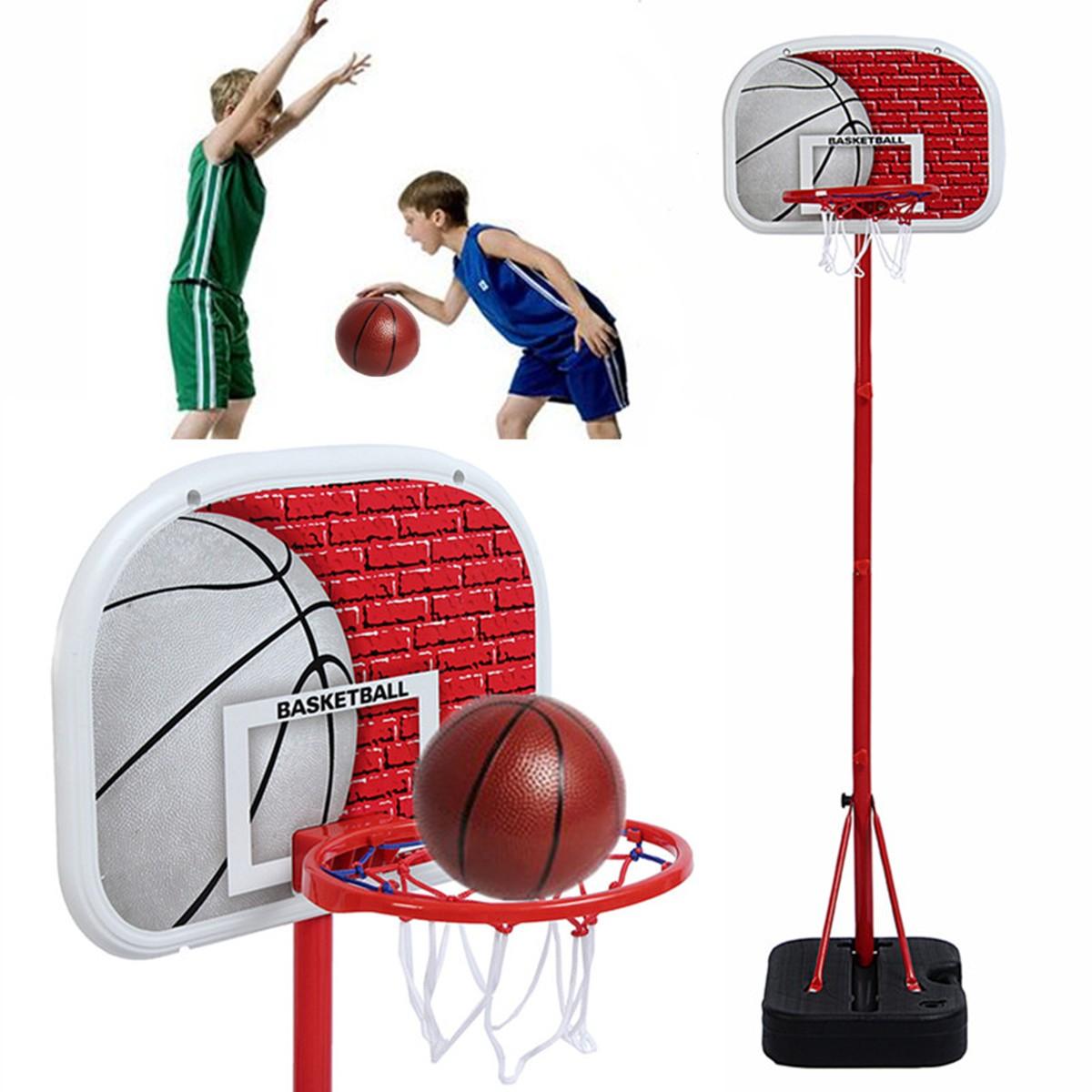 1 Set Adjustable Basketball Hoop System Stand Net Goal Backboard +Basketball+Base+Pole+Ring+Net Kid Child Gift Indoor... by