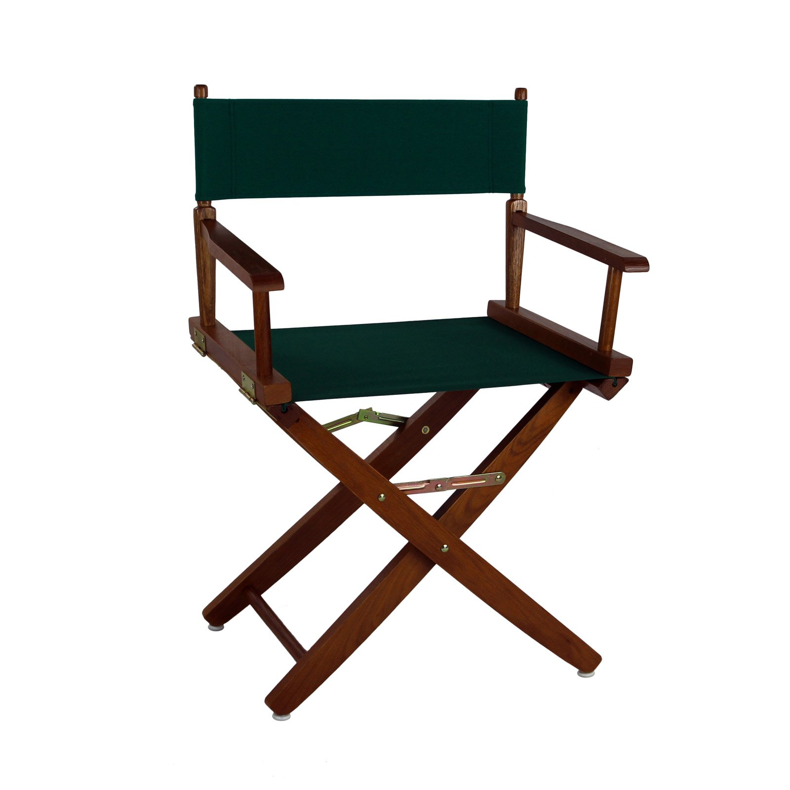 """Extra-Wide Premium 18"""" Directors Chair Mission Oak Frame W/Hunter Green Color Cover"""