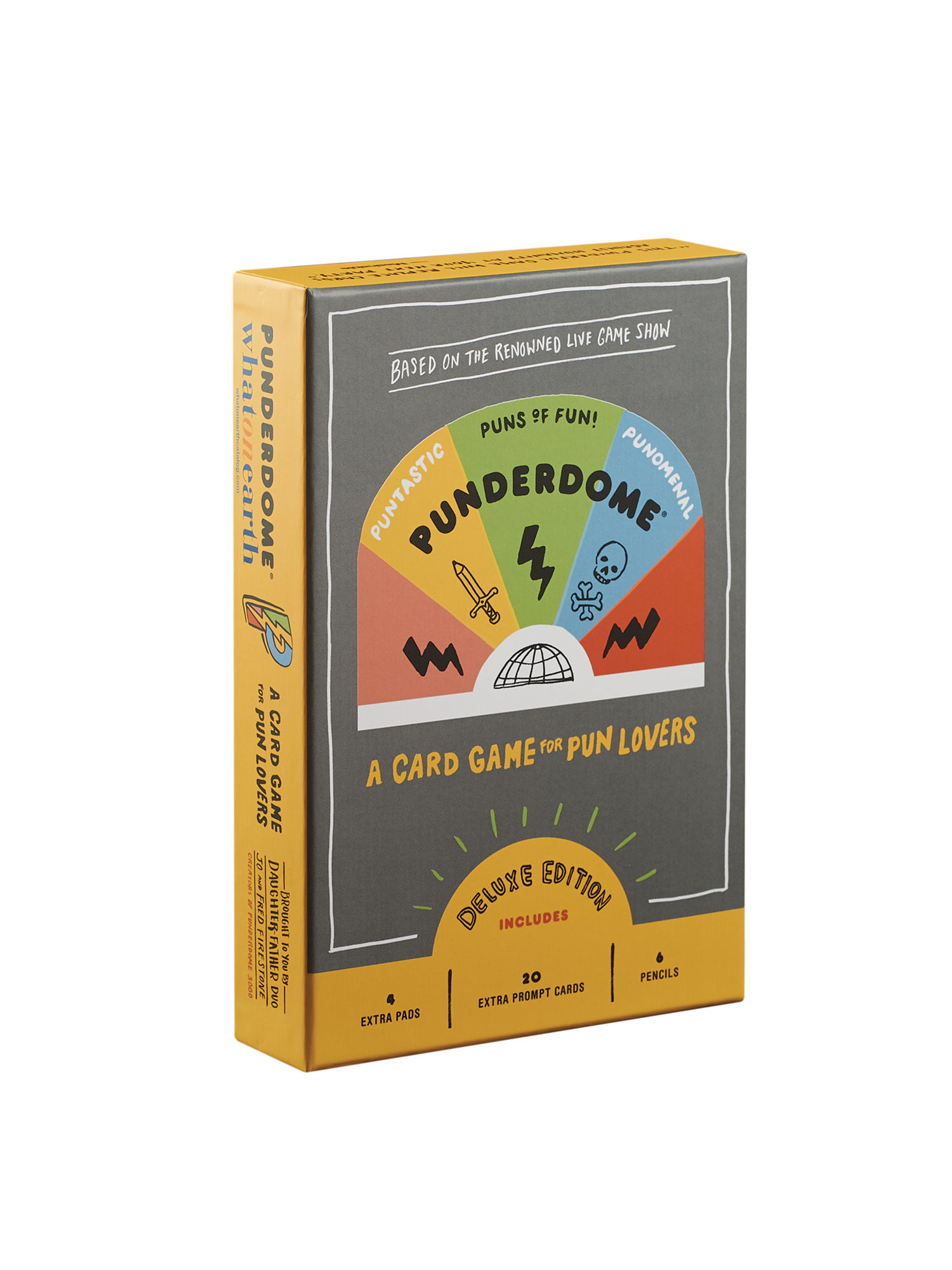 Punderdome: A Card Game for Pun Lovers Deluxe Edition 20 Extra Cards & More by