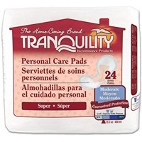 Tranquility Incontinence Personal Care Pads for Men or Women Super - 24 ea - (Pack of 1)