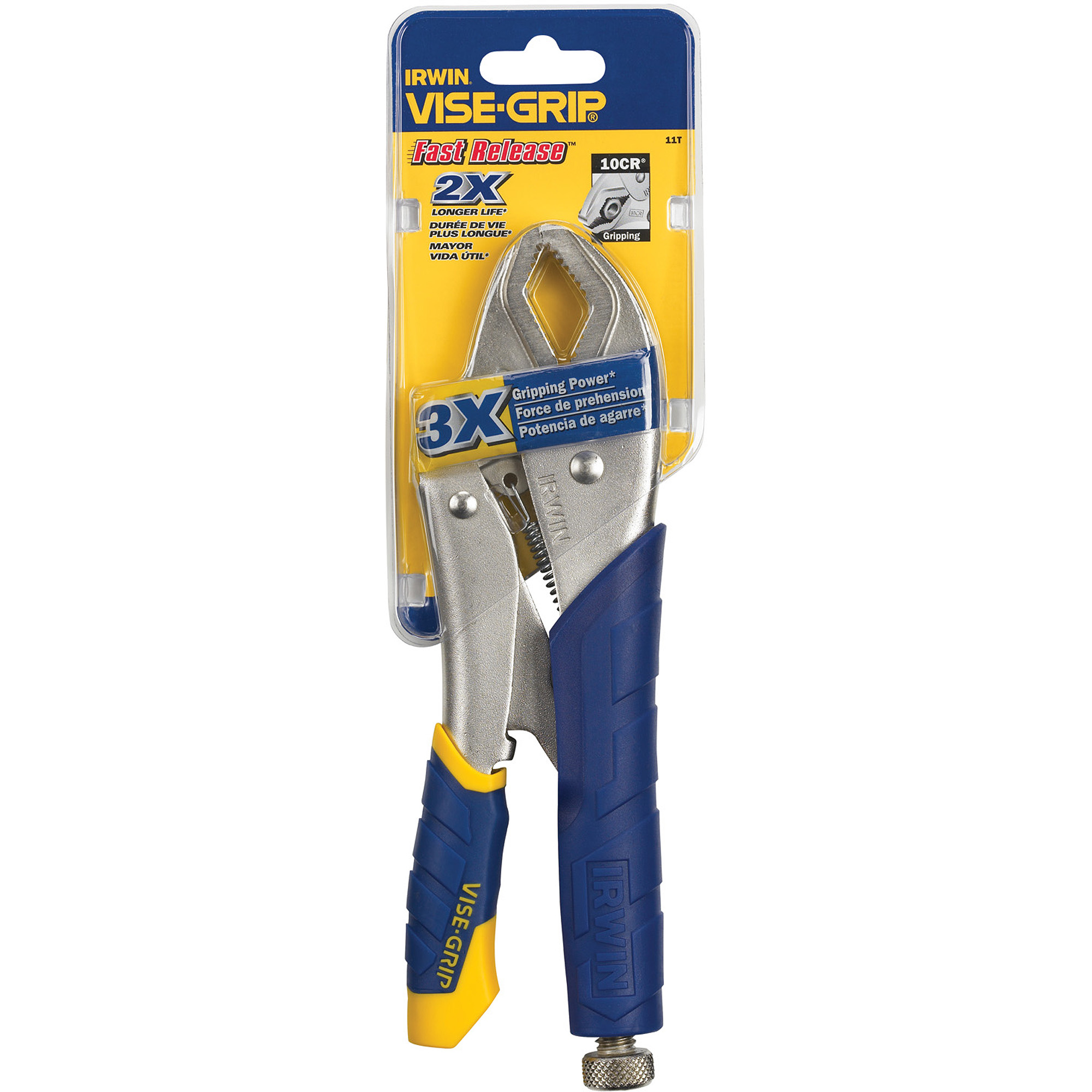"""Irwin Industrial Tool 10"""" Fast Release Curved-Jaw Locking Pliers, 11T"""