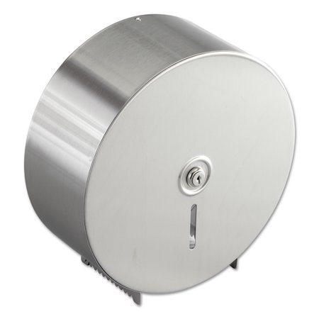 Bobrick Jumbo Toilet Tissue Dispenser, Stainless Steel, 10.625W x 10.625H x 4.5D