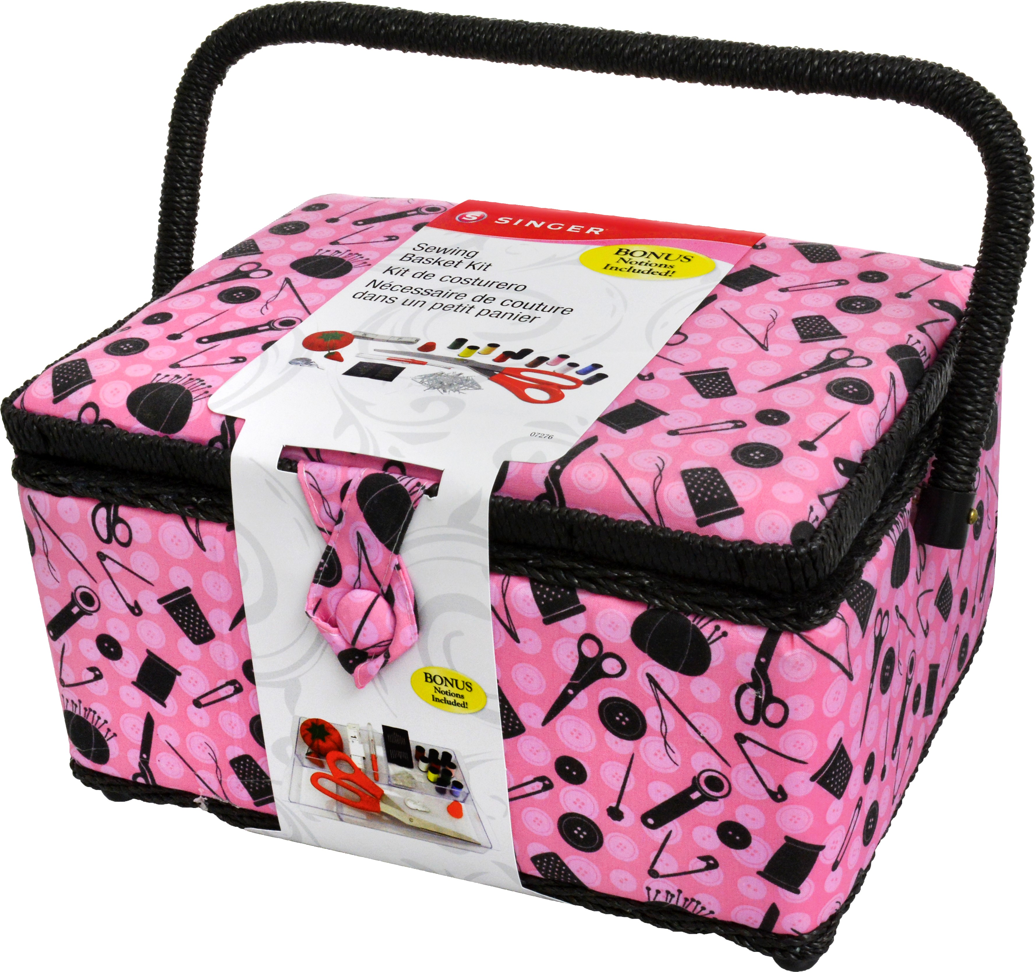 Singer Sewing Basket with Sewing Kit Accessories, 127 Pieces