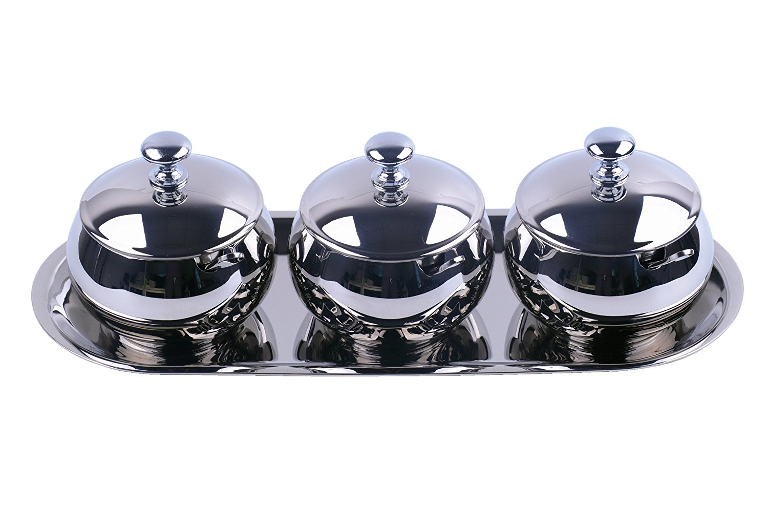 Artmice-Sugar Bowl,Artmice Stainless Steel Sugar Bowl with Lid and Sugar Spoon for Home, Drum Shape, 9.0... by
