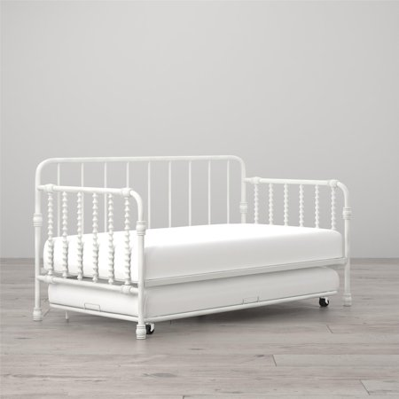 Little Seeds Monarch Hill Wren Metal Daybed With Trundle Twin White