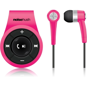 NoiseHush NS560 Clip-on Bluetooth Stereo Headset, Pink
