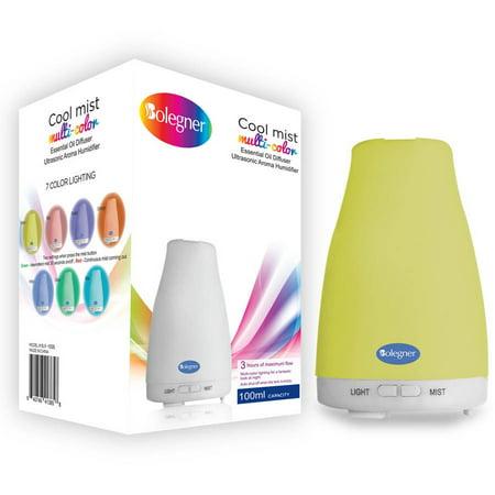 Bolegner Aroma Essential Oil Diffuser, Multi-Color Cool Mist Ultrasonic Air Humidifier, 100ml Water Tank Capacity