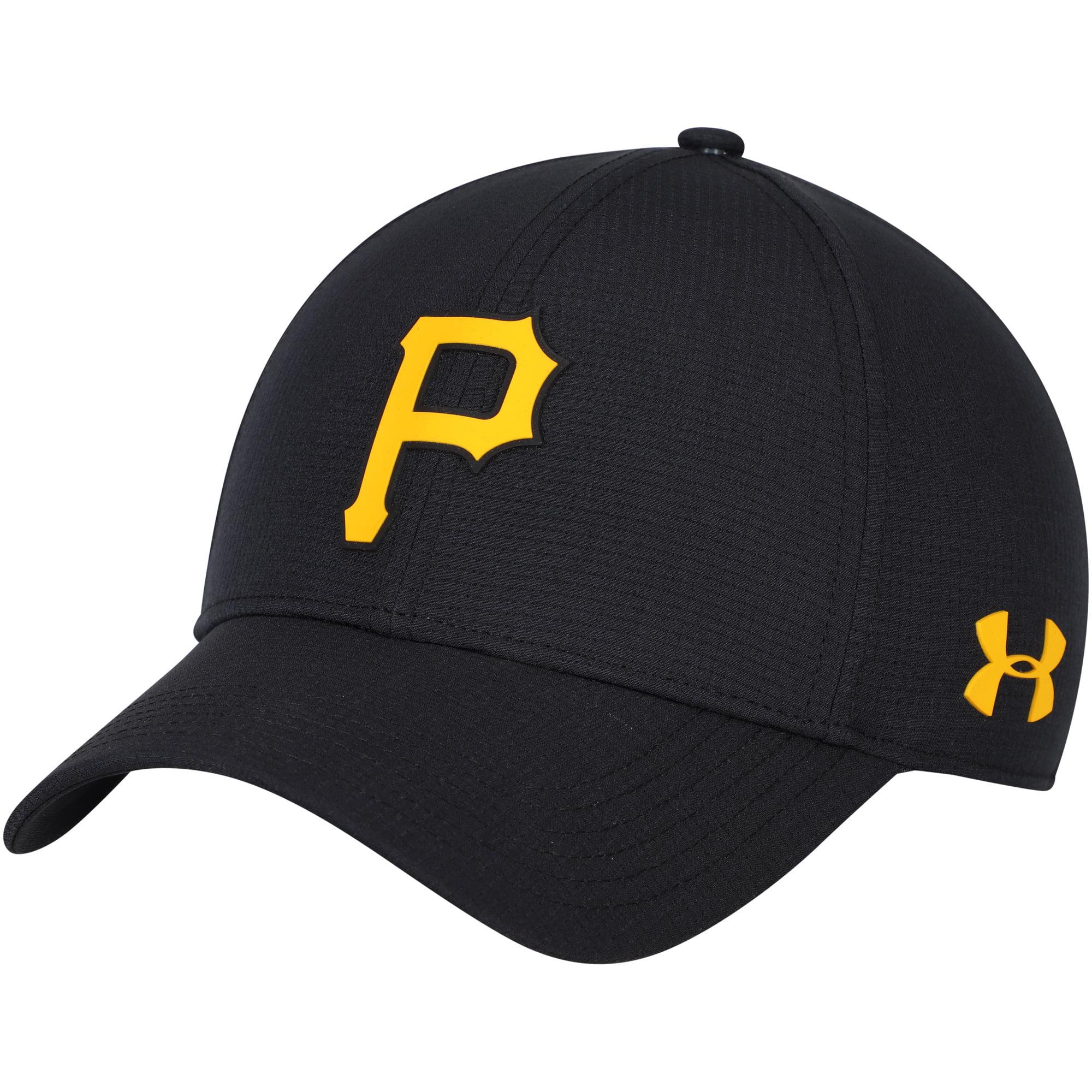 Pittsburgh Pirates Under Armour MLB Driver Cap 2.0 Adjustable Hat - Black - OSFA