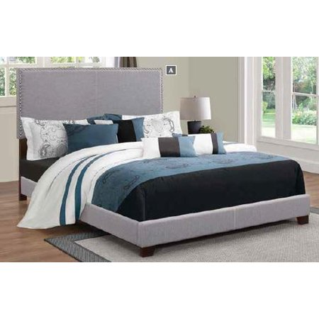 Coaster Company Boyd Upholstered California King Bed, Grey California King Upholstered Bed