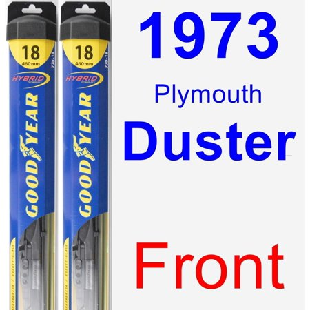 1973 Plymouth Duster Wiper Blade Set/Kit (Front) (2 Blades) - (1973 Plymouth Duster)