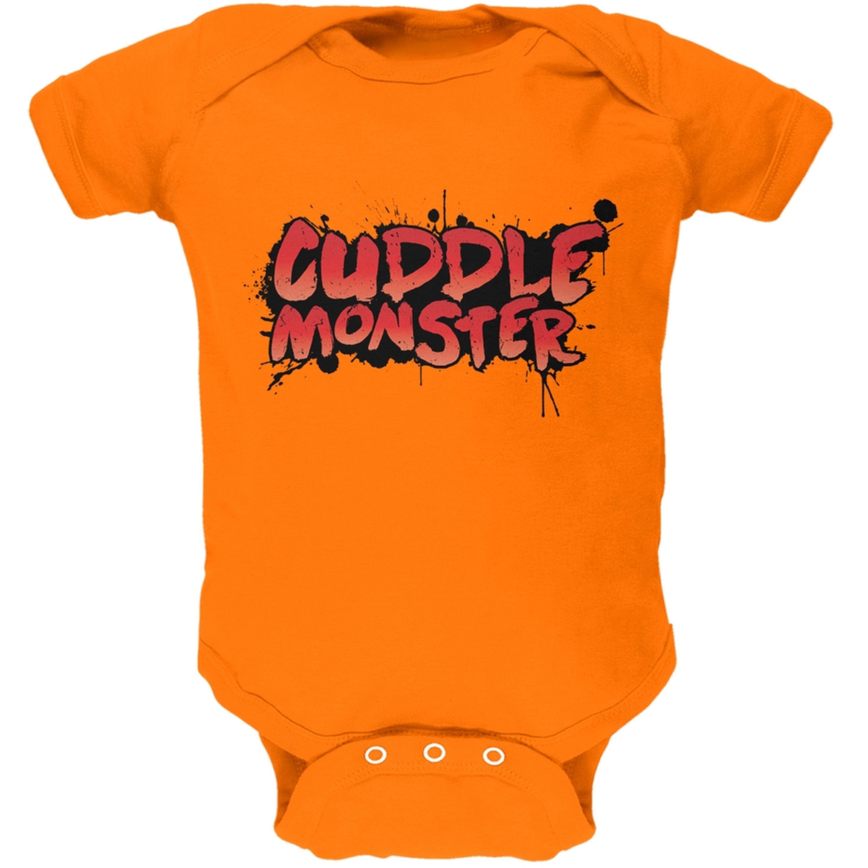 Cuddle Monster Orange Soft Baby One Piece
