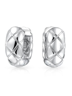 fd9e2c540c Product Image 925 Sterling Silver Quilted Huggie Hoop Earrings