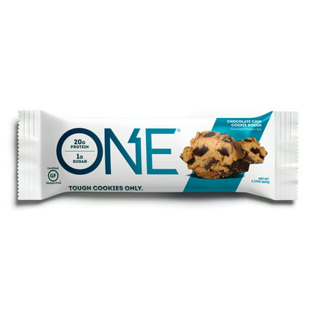 Advantage Bags - ONE Protein Bar, Chocolate Chip Cookie Dough, 20g Protein, 12 Ct