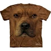 Pitbull Face Adult T-Shirt 10-3262