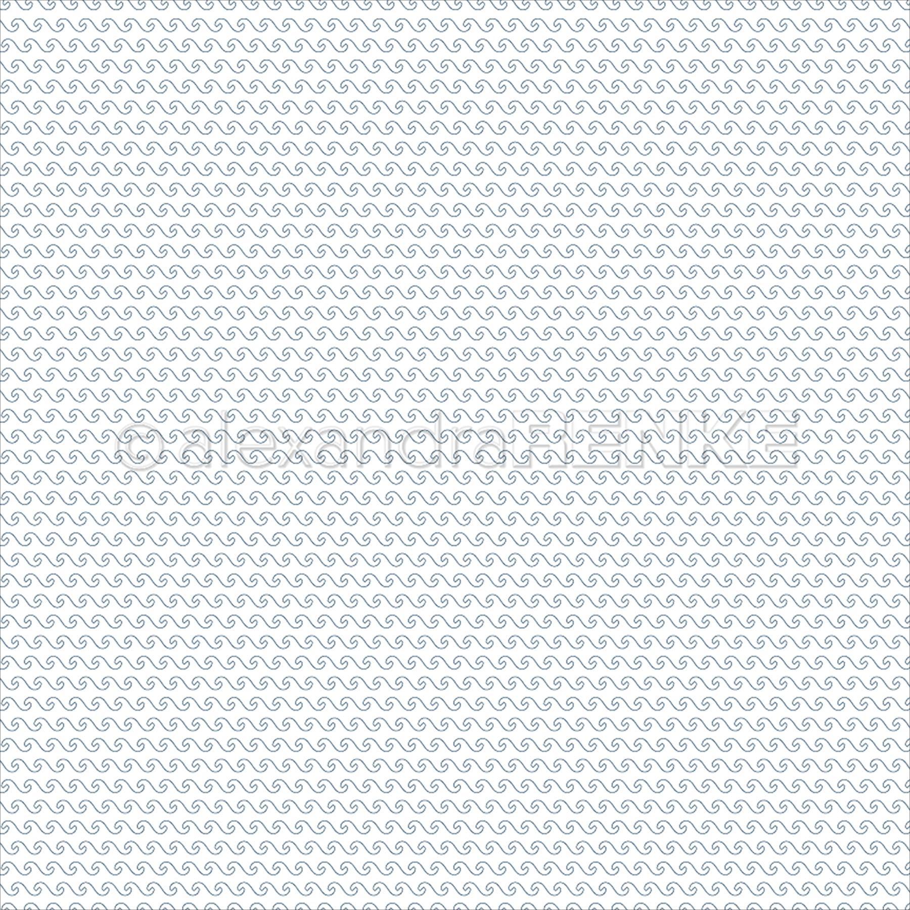 "Alexandra Renke Travel Design Paper 12""X12""-Japan Simple Waves Blue"