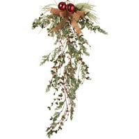 """40"""" Holiday Winter Cedar Pine Door Trailer Swag Garland Branches Cones Decor"""