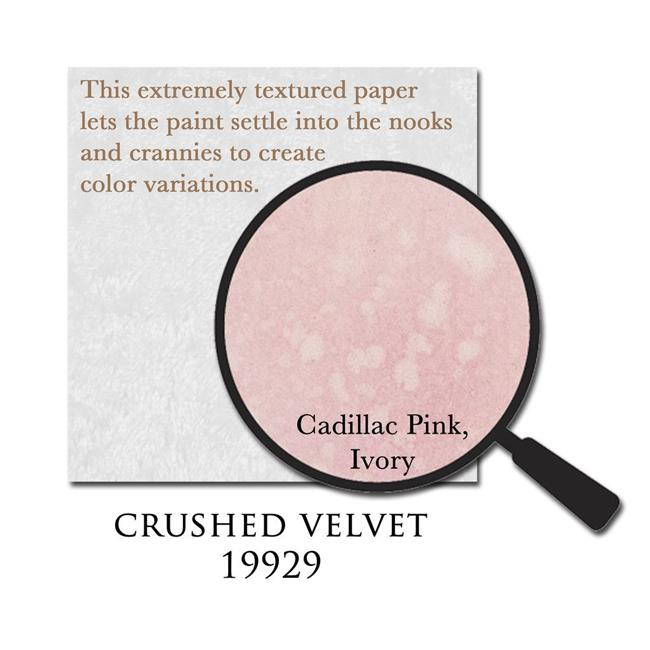 Canvas 19929 12 x 12 in. Pure Mistable Paper Crushed Velvet