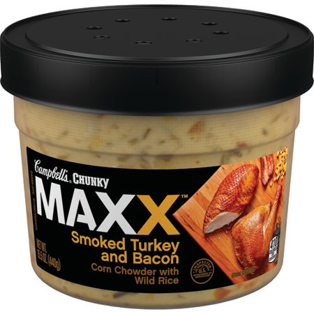 (2 Pack) Campbell's Chunky Maxx Smoked Turkey and Bacon Corn Chowder with Wild Rice, 15.5
