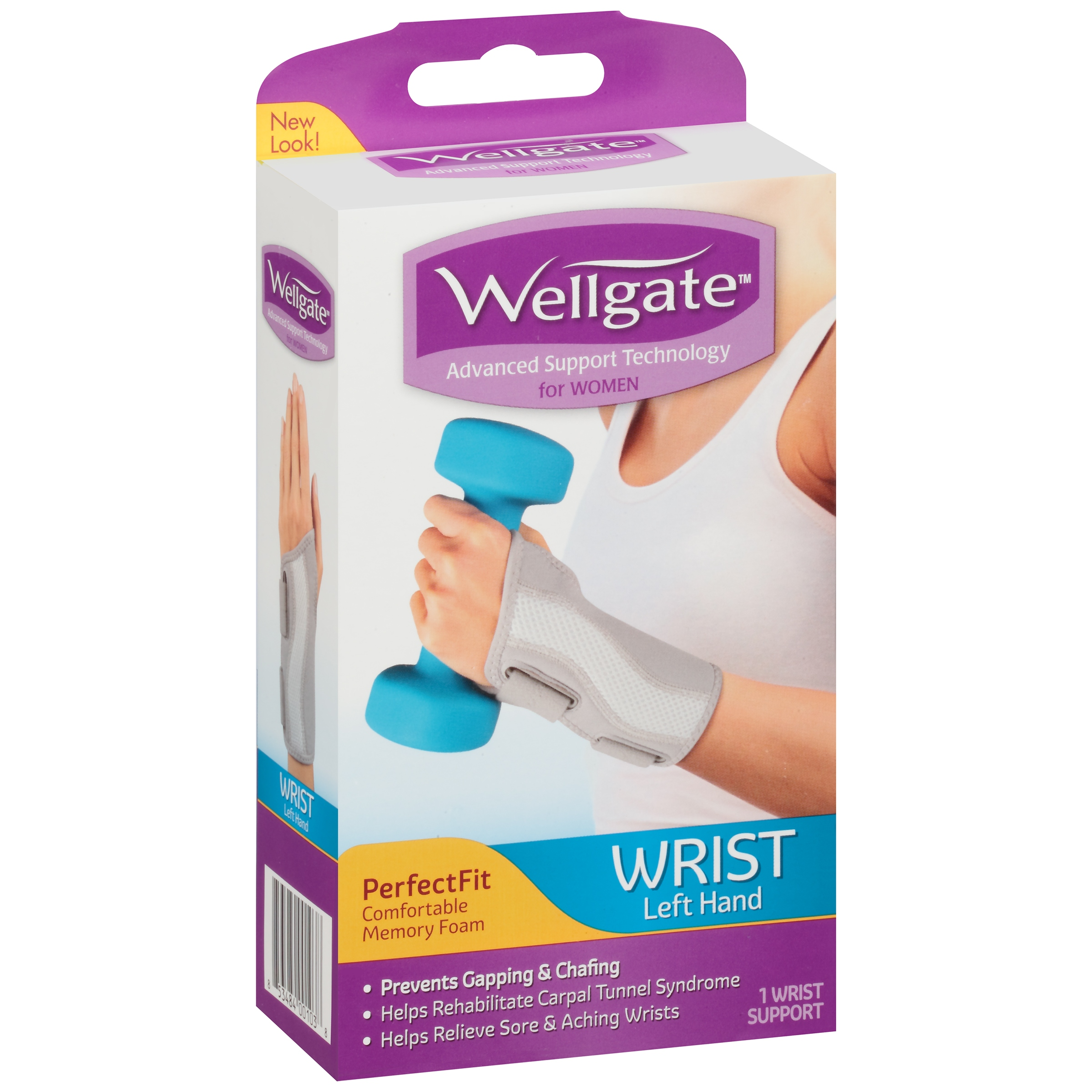 Wellgate™ PerfectFit Wrist Support for Women Left Hand 1 ct. Box