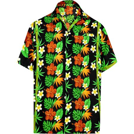 f43301a90 Hawaiian Shirt Mens Beach Aloha Camp Party Casual Holiday Tropical Shirt  Bamboo Tree Print