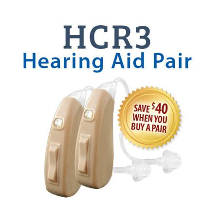 HearClear HCR3 Rechargeable Hearing Aid - Both