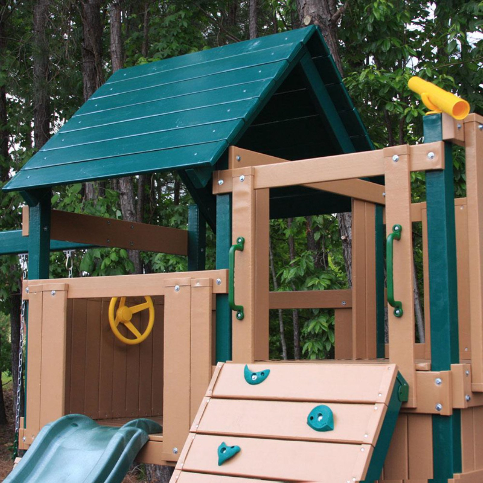 Kidwise Congo Safari Lookout And Climber Play System Green Sand